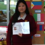 Lucy - our first student from South Korea